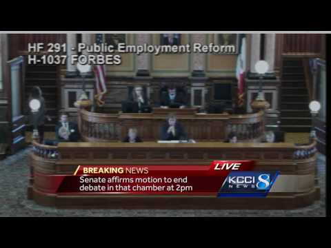Marathon debate over collective bargaining comes to a close