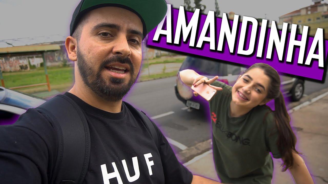 ANDEI DE SKATE COM ELA! Amandinha!