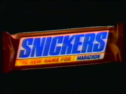 Snickers The New Name For Marathon 1990 Uk Tv Advert