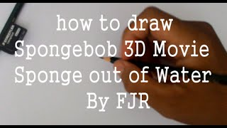 How to Draw Spongebob Hero From Spongebob Sponge Out of Water Movie 3D