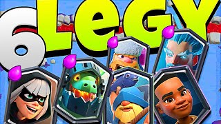 THIS 6 LEGENDARY DECK is INSANE in clash royale