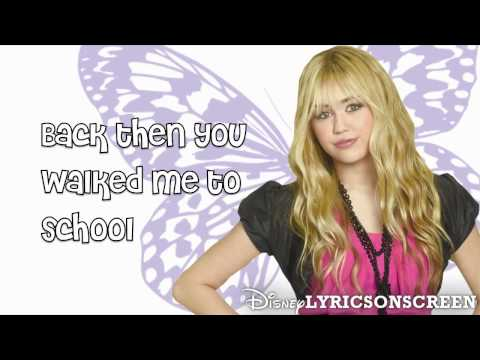 Hannah Montana - Been Here All Along (Lyrics Video) HD