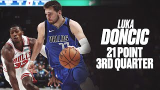 Luka Doncic Drops 21 Points In Third Quarter, 38 Points vs. Bulls