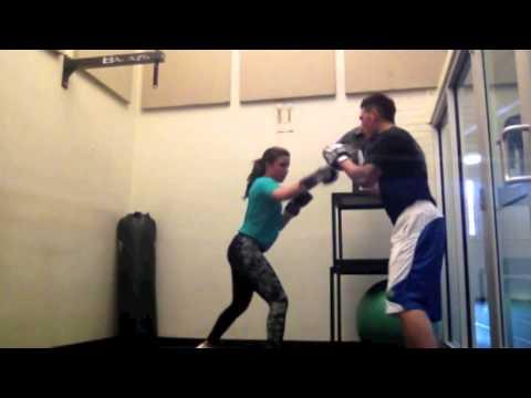 Boxicio training at University of Wyoming
