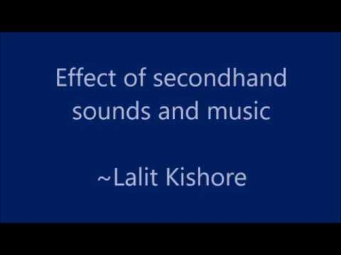 Effect of secondhand sound or noise from non-adapted music on children with special needs