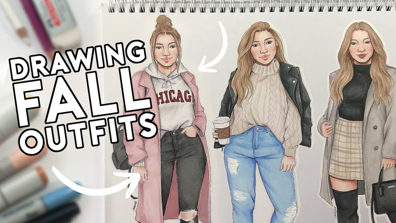 [VIDEO] - Drawing FALL OUTFITS Ideas! Let's Get COZY! ?? 4