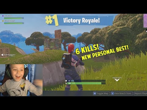 Nytt Rekord!😄 6 Kills Och Vinst! - Fortnite Battle Royale På Svenska (5 Year Old Gamer)