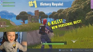 New personal best!😄 6 kills and a win! - Fortnite Battle Royale (5 year old gamer)