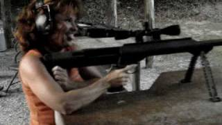 mom shooting barrett 50 cal m99