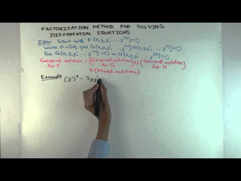 Factorization method for solving differential equations