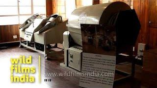 Tea leaves dryer machine in Darjeeling