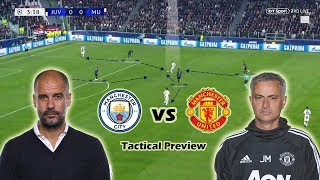 Manchester City vs Manchester United   Tactical Preview   Guardiola vs Mourinho