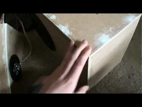 Using Wood Putty For Smooth Subwoofer Box