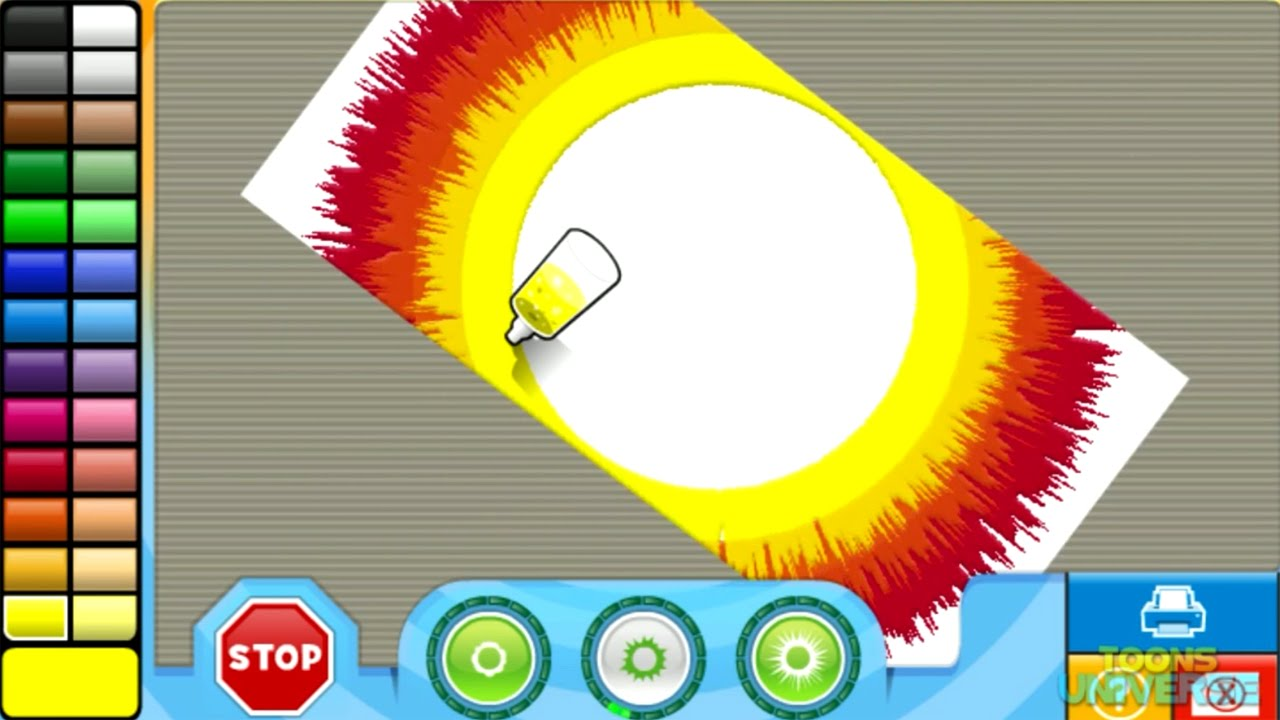 Rainbow Power Spin Art Nick Jr. Creativity Centar | Creative Game ...