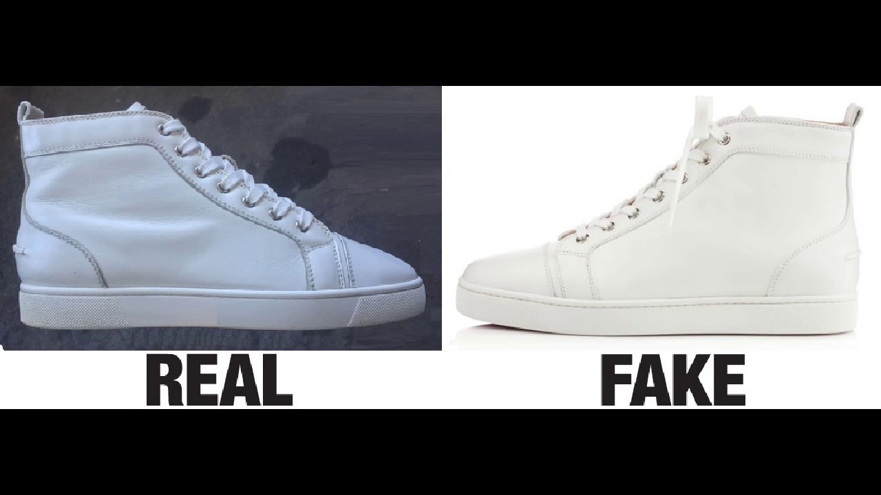9b095afe4789 How To Spot Fake Christian Louboutin Louis Calf Sneakers Trainers Authentic  vs Replica Comparison