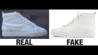 How To Spot Fake Christian Louboutin Louis Calf Sneakers Trainers Authentic vs Replica Comparison