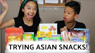 TRYING ASIAN SNACKS W/ CHRISTIAN! Nicole Laeno
