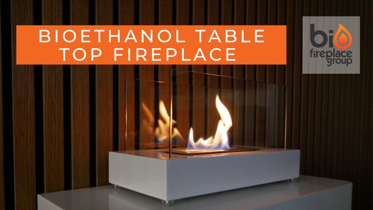 bioethanol table fireplace black bio 20 258 youtube