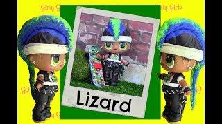 LOL Surprise Punk Boy LIZARD Punk BrotherCustom + Doll Story Video by Girly Girlz
