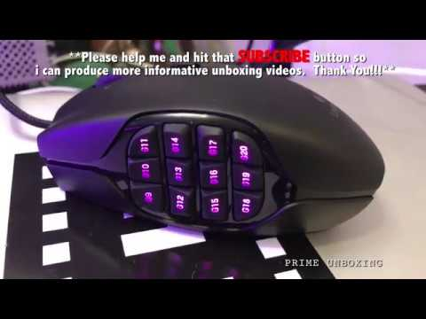 Logitech G600 Gaming Video Editing Mouse Unboxing 4k Youtube