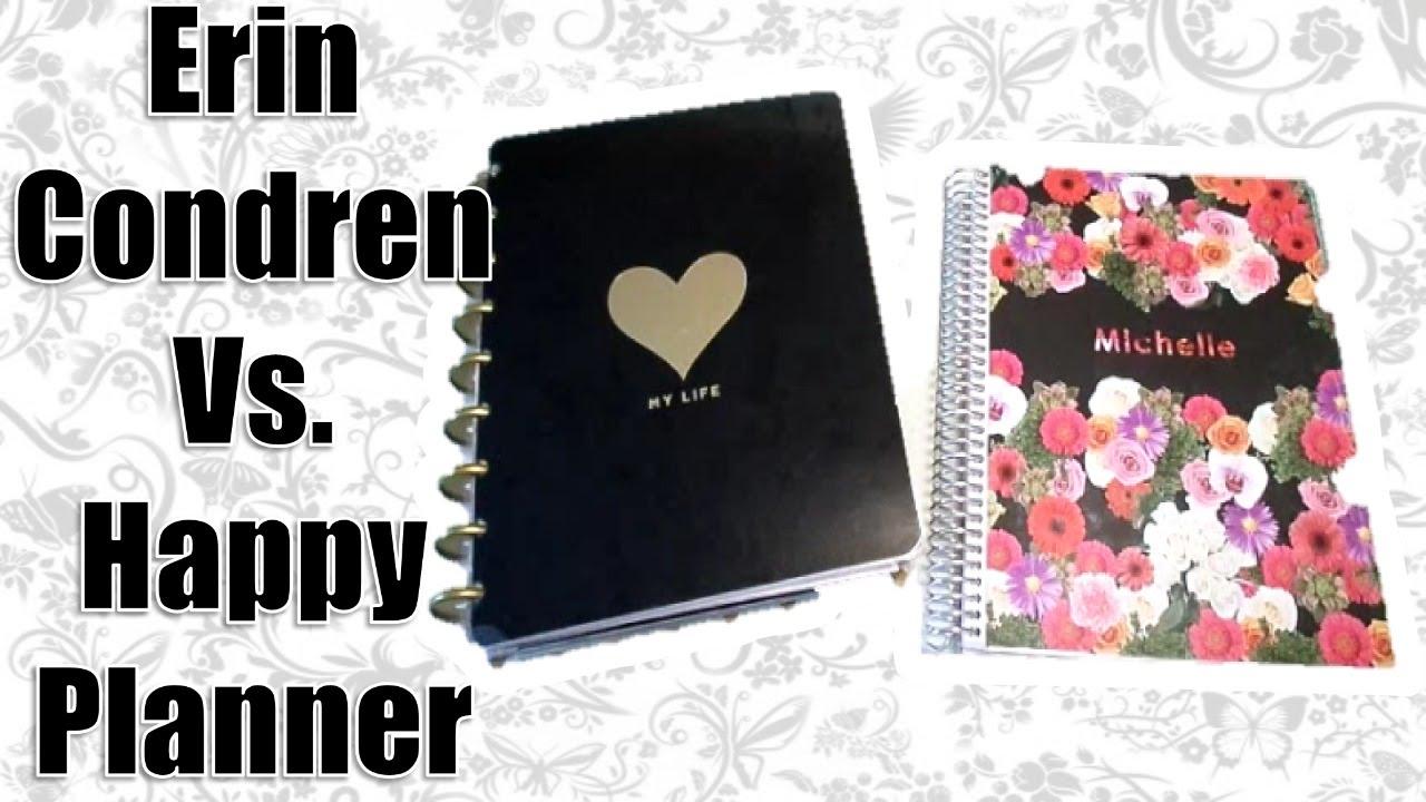 create 365 mambi happy planner vs erin condren life planner youtube