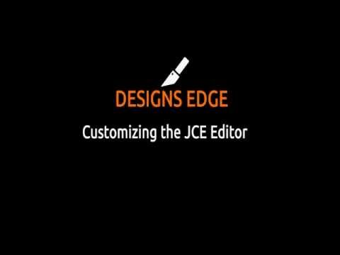 Customizing JCE Editor Joomla Tutorial