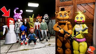 CAN THE ANIMATRONICS ESCAPE THE SCARY HORROR SCHOOL? (GTA 5 Mods For Kids FNAF RedHatter)