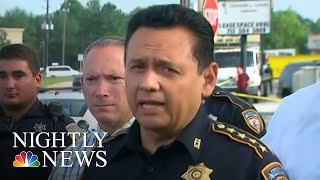 Suspected Houston Serial Killer Spotted By News Crews, Captured By Police   NBC Nightly News