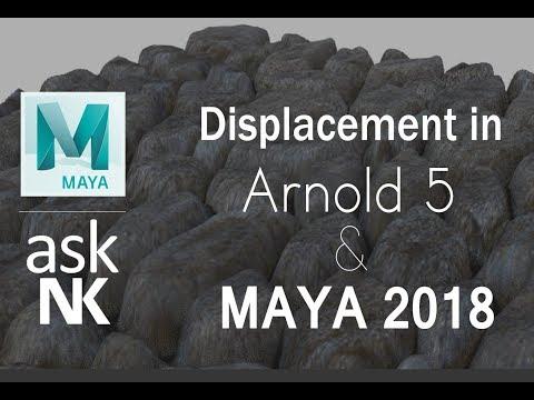 Displacement in Arnold 5 & Maya 2018