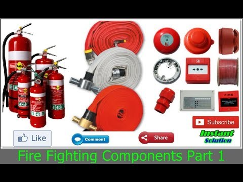 Fire Fighting Components List ! Fire Fighting Equipments Part 1 In Hindi Urdu