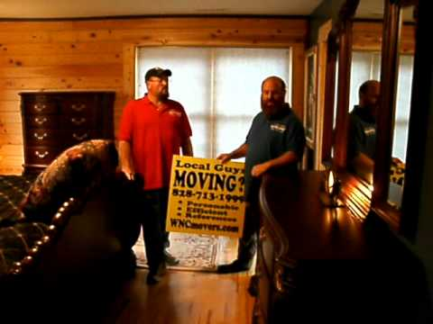 Asheville Local Movers Moving New Tyson Furniture In Black Mountain, NC.