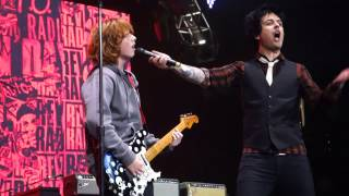 Green Day - Longview and J.A.R. – Oakland, Live, 12-10-16, 1st row, Oracle Arena. Billie Joe: You fu*king rule kid. You get to keep that guitar! ~8:20 (The look ...