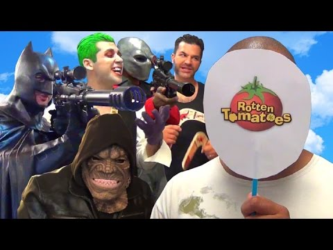 DC Characters vs Rotten Tomatoes Movie Critics! Real Life Dawn of Justice/Suicide Squad Parody