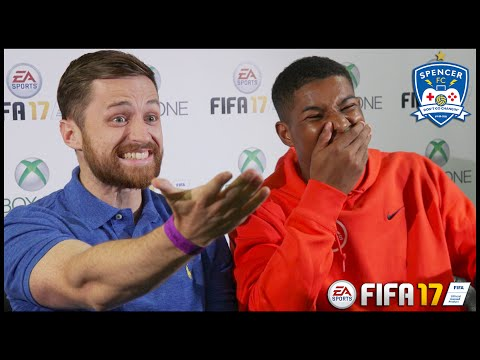 SPENCER VS MARCUS RASHFORD! FIFA 17 + Q&A!