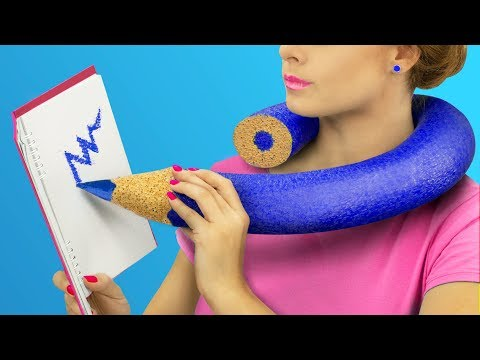 6 Weird Ways To Sneak Giant Stress Relievers Into Class / Anti Stress School Supplies