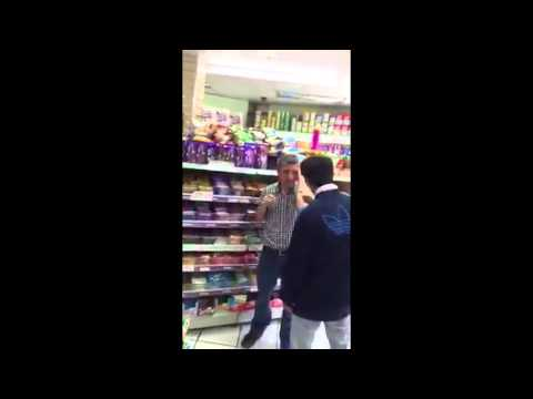 Watch shocking video of a supermarket worker launching attack on a shoplifter