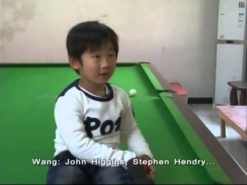 Four-year-old Chinese snooker star