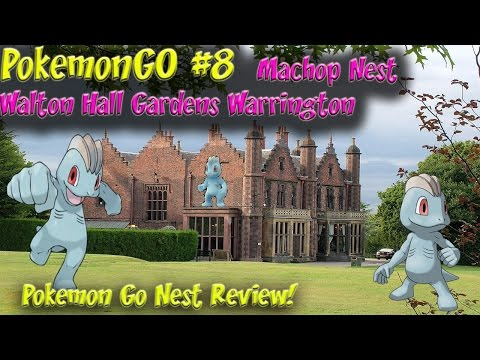 Pokemon Go Ep8 Machop (now Pikachu) Nest Walton Hall Gardens Warrington