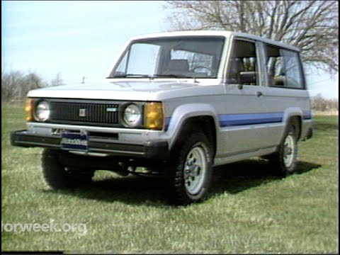 motorweek | retro review: '84 isuzu trooper ii - youtube