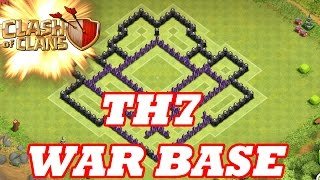 Clash Of Clans | BEST TOWN HALL 7 WAR BASE ( TH7 ) SPEED BUILD 2015