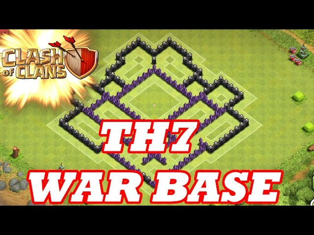 Clash Of Clans   BEST TOWN HALL 7 WAR BASE ( TH7 ) SPEED BUILD 2015