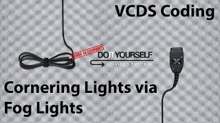 golf v how to encode cornering lights via fog lights with vcds tutorial hd