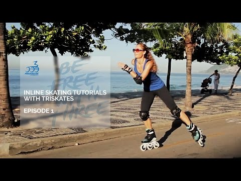 Inline Skating Tutorials with Three wheel skates -  how to learn triskating - 01 basic steps