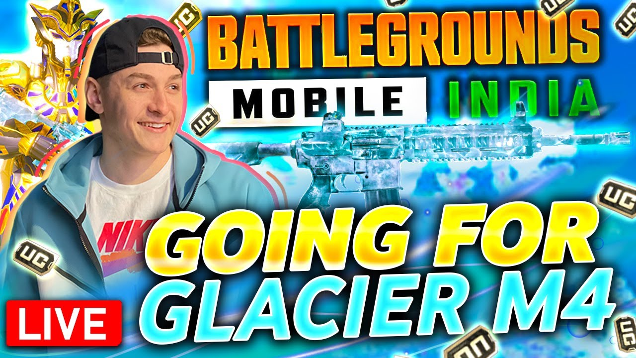 GOING FOR GLACIER M4 ON BGMI - MASSIVE CRATE OPENING at 20k Likes