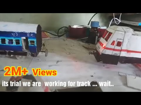 Automatic Coupling of indian railways WAP 7 locomotives with ICF coaches | Model train |