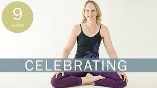 Celebrating 9 Years on YouTube - LIVE YOGA - Part 1