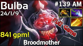 841 gpm! Bulba Broodmother - Dota 2 Full Game 7.17