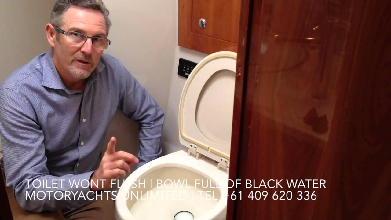 Sealand Vacuflush Toilet won\'t flush - Bowl full of water - YouTube
