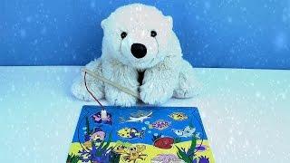 Развивающий мультфильм с игрушками - Медвежонок Умка ловит рыбу.
