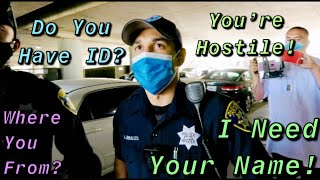 Big Intimidation Fail!Cops Rolling Up Hard On Us Trying To Get Us ID(Cops Owned)-1st Amendment Audit